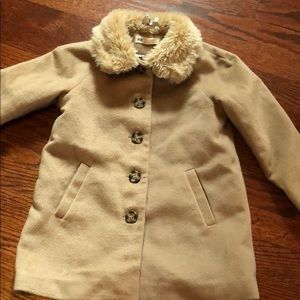 H&M Soft Lined Peacoat - 4-5Y